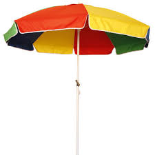 Polyester Plain Promotional Garden Umbrella