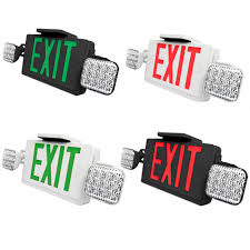 led exit sign and emergency light choose white or black housing