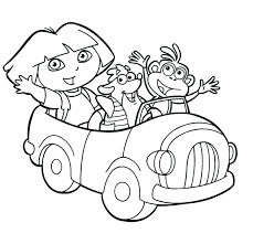The Explorer Coloring Book Pages Dora Games Episodes Nick Jr Colouring Full Size