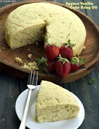Eggless Vanilla Cake Using Oil Cakes and Pastries recipe