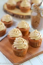 Carrot Cake Cupcakes with Brown Sugar Cream Cheese Frosting