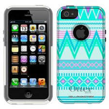 Otterbox muter Series Chevron Turquoise and White Pattern