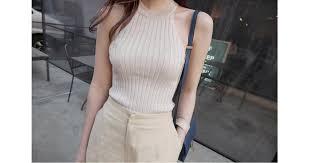 Crop Top Women 2017 Summer Tops Off Shoulder Tank Femme Knitted Cotton Halter Cropped Debardeur