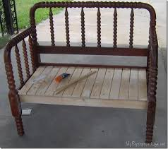 spool bed made into a bench Pinterest