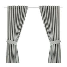 Light Grey Curtains Ikea by Gray Curtains Ikea Curtains With Tie Backs 1 Pair White And Gray