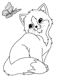 Lisa Frank Cat Coloring Page