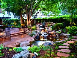 Patio : Enchanting Landscaping Ideas Front Yard The Landscape ... Landscape Sloped Back Yard Landscaping Ideas Backyard Slope Front Intended For A On Excellent Tropical Design Tampa Hill The Garden Ipirations Backyard Waterfall Sloping And Gardens 25 Trending Ideas On Pinterest Slopes In With Side Hill Landscaping Stones Little Rocks Uk Cheap Post Small