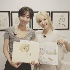 TheSoneSource On Twitter Taeyeon With Suwa ArtistAuthor Of HERS Coloring Book
