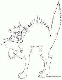 Black Cat Colouring Pages Page 2