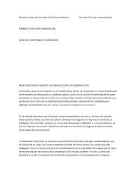Formato Carta Recomendacion Personal Colombia Primitivelifepw