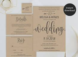 Backyard Wedding Invitations Awesome Affordable Diy Rustic