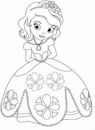 Princess Coloring Page Kleurplaat Prinses