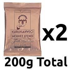 Turkish Coffee Kurukahveci Caife Tuircis Preimhe Is Fearr Duitse 2 X 100g