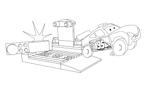 LEGOR Juniors Lightning McQueen Coloring Page