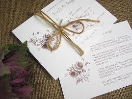 Rustic Rose Pocketfold Invitation Stack