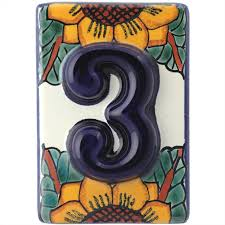 Mexican Tile House Numbers With Frame by Innovative Tile House Numbers Invisibleinkradio Home Decor