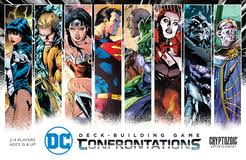 dc deck building game confrontations board game boardgamegeek