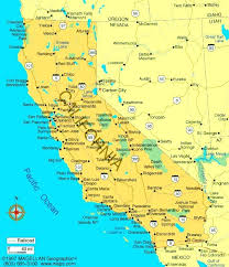 Map Of California Cities And Towns Road