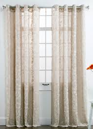 Crushed Voile Curtains Grommet by Darcy Embroidered Grommet Panel U2013 White U2013 Twill U0026 Birch White