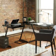 Black Glass Corner Computer Desk by 20 Contemporary Office Desk Designs Decorating Ideas Design
