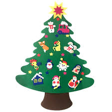 Door Wall Hanging Non Woven Christmas Tree DIY Ornaments Set Kids