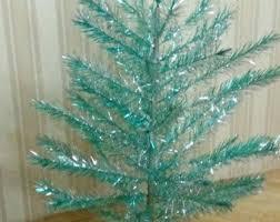 Aluminum Christmas Tree Silver 80s Decoration Light Up Shiny Kitschy