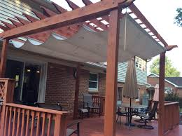 Curtain Grommet Kit Home Depot by Pergola Shade Made With A Painters Tarp From Home Depot A Rubber