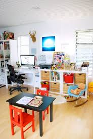 Elegant Home Office And Playroom Design Ideas 68 In Inspiration Interior With