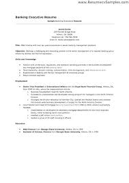 Sample Resume For Bank Jobs Job With
