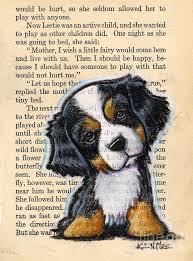 Title Bernese Mountain Dog Puppy Artist Kim Niles Medium Drawing