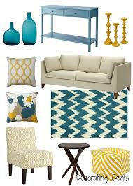 Teal Green Living Room Ideas by Decorating Cents Yellow And Teal Decor Pinterest Teal