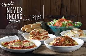 New Never Ending Classics Starting At $11 99 At Olive Garden