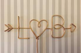Wire Cake Topper Personalized Custom Arrow Initials TopperHeart Topperrustic