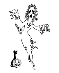 Halloween Scary Witch Coloring Pages