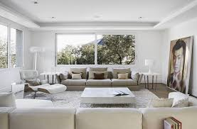 View In Gallery Modern Minimalist Living Room Pristine White