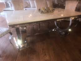 Ariana 2 Meter Cream Marble Dining Table And 6 Chairs Cheapest Uk | In  Sale, Manchester | Gumtree