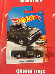 100 56 Ford Truck Custom Flat 215 Black 2017 Hot Wheels Case K