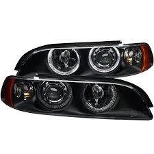 anzo usa bmw 5 series e39 97 01 projector headlights black w