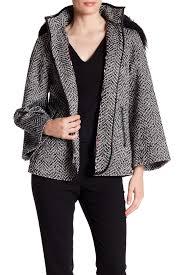 betsey johnson faux fur trim zip front cape nordstrom rack