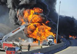 100 Tanker Truck Explosion Burning Tanker Truck Shuts Down Detroitarea Freeway Toledo Blade