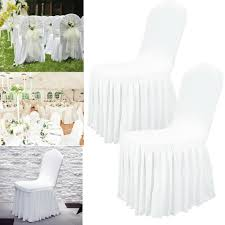 Details About 1~100 Ruffled Wedding Chair Cover Stretch Spandex Banquet  Party Venue Seat Cover Silver Stretch Spandex Banquet Chair Cover Balsacircle 50 Pcs White Polyester Covers For Party Wedding Linens Decorations Dning Ceremony Reception Supplies Hunter Green 57 Lifetime Folding Fuchsia Free Shipping Whosale 100pcs Universal Arm With For Plastic Outdoor Slipcovers Ivory Your Champagne Slip Premium Quality Ruched Fashion Ebay Sponsored 10pcs Scuba