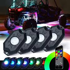 100 Truck U Tv Details About RGB LED Rock Light Wireless Bluetooth Music Offroad TV MultiColor 4Pods
