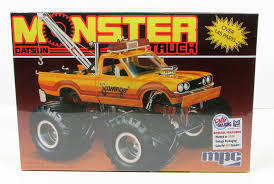 This Datsun Monster Truck Model Kit Is Made By MPC In 1/25 Scale ... Amazoncom Hot Wheels Monster Jam 124 Scale Dragon Vehicle Toys Lindberg Dodge Rammunition Truck 73015 Ebay Hsp Rc 110 Models Nitro Gas Power Off Road Trucks 4 For Sale In Other From Near Drury Large Rock Crawler Rc Car 12 Inches Long 4x4 Remote 9115 Xinlehong 112 Challenger Electric 2wd Round2 Amt632 125 Usa1 172802670698 Volcano S30 Scalextric Team Monster Truck Growler 132 Access