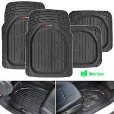 Car Floor Mats by Dish Heavy Duty Rubber Car Floor Mats 4pc Front Rear In Black