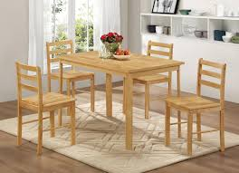 York Wooden Dining Table With 4 Chairs Size W1200 X D750 H750mm