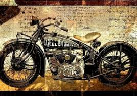 Harley Davidson Home Decor Luxury Vintage Motorcycle Canvas Print Art Hell Wheels