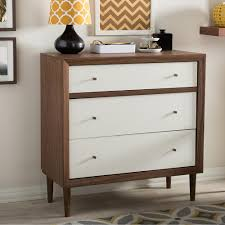 Sauder Shoal Creek Dresser Soft White by International Concepts Brooklyn 3 Drawer Unfinished Wood Chest Bd