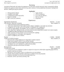 Electrician Resume Sample Master Assistant