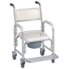 amazon com funwill mobile commode chair toilet bathing shower
