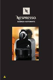Nespresso Essenza Automatic Espresso Maker User Manual